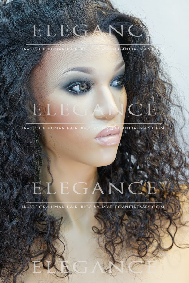Lyla Full African American Lace Wig - My Elegant Tresses - Big Curly Wig