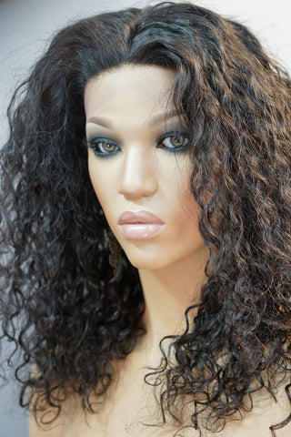 Lyla Front Lace Curly Human Hair Wig