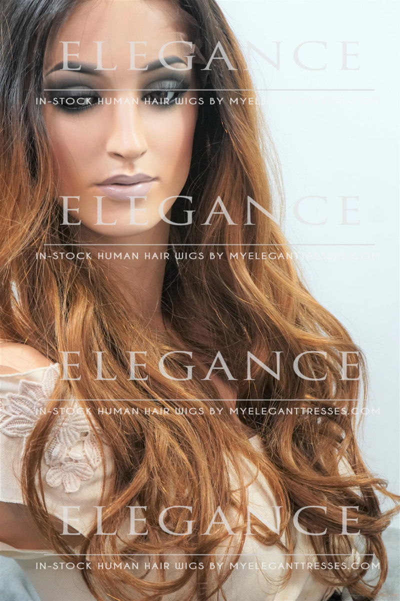 Zoe Lace Front Ombre Wig- My Elegant Tresses - Best Lace Wigs
