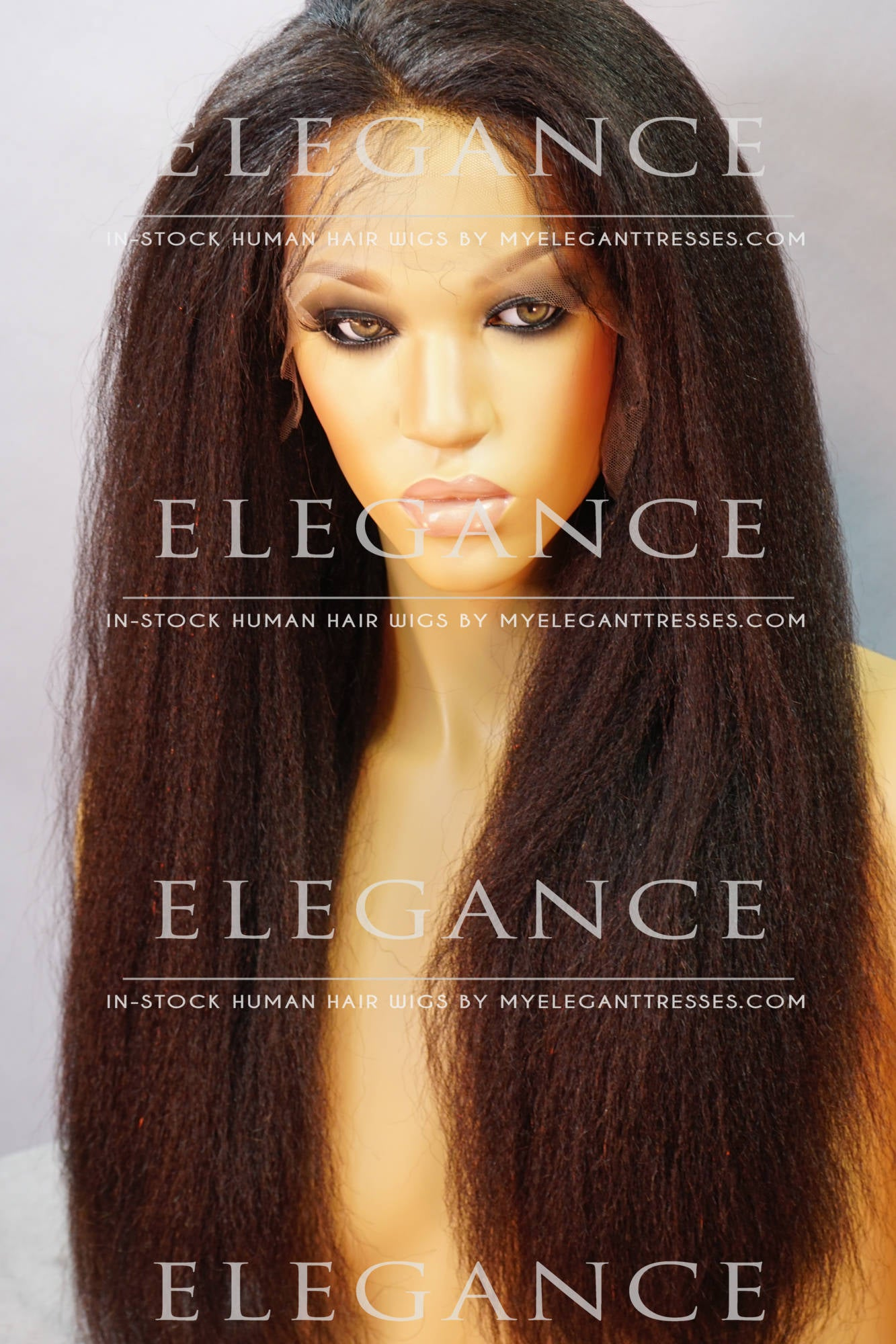 Mia Full Lace Asian Italian Yaki Wig - My Elegant Tresses - Natural Wigs for African American Women