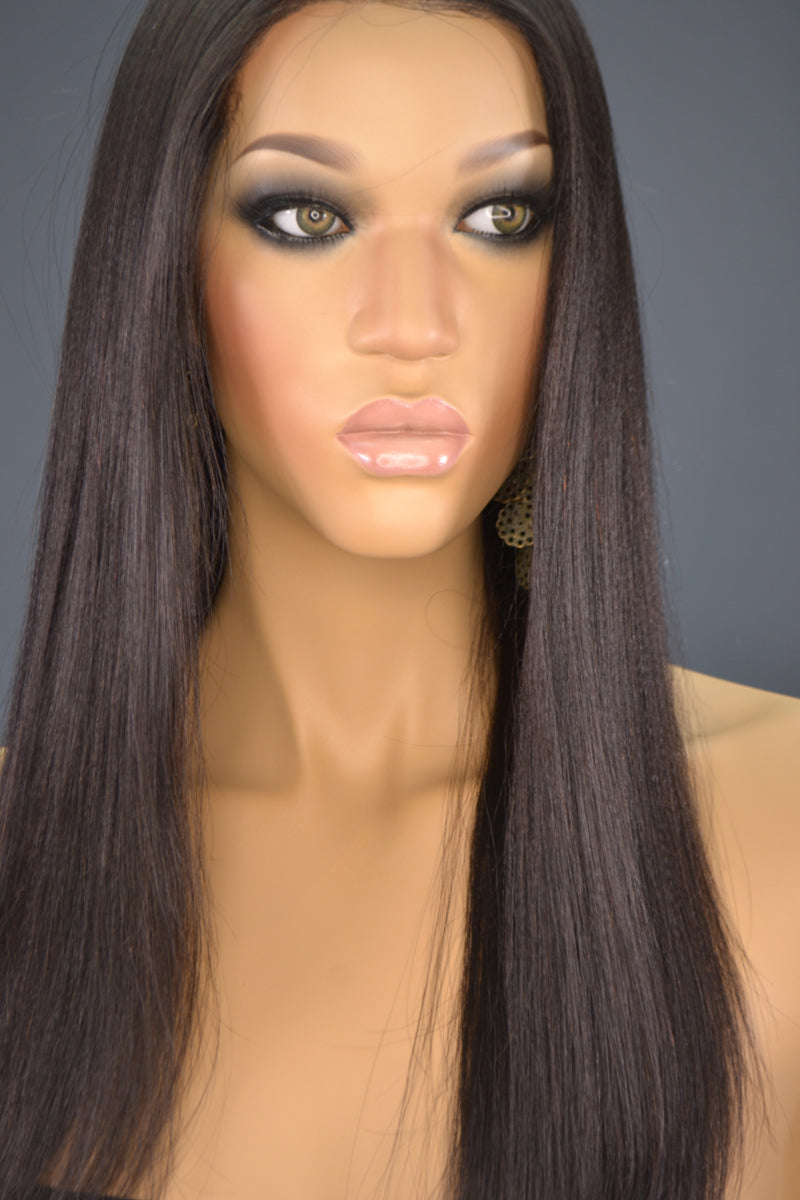 Faith Yaki Hair Full Lace Wig - My Elegant Tresses - Natural Wigs for African American Women
