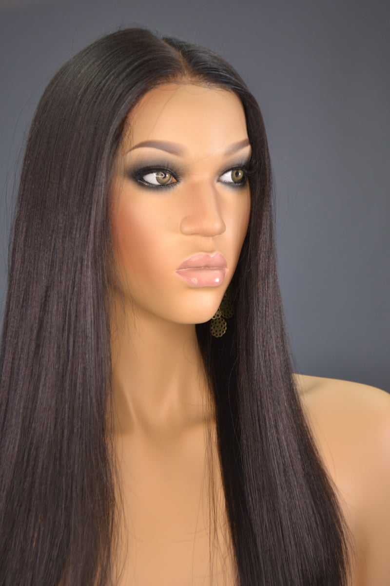 Faith Yaki Lace Front Wig - My Elegant Tresses - Natural Wigs