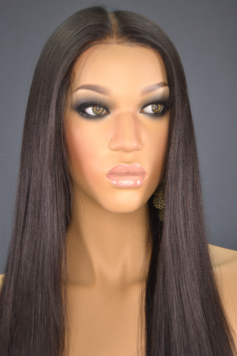 Faith 360 Lace Frontal Wig -My Elegant Tresses - Yaki Human Hair Wig