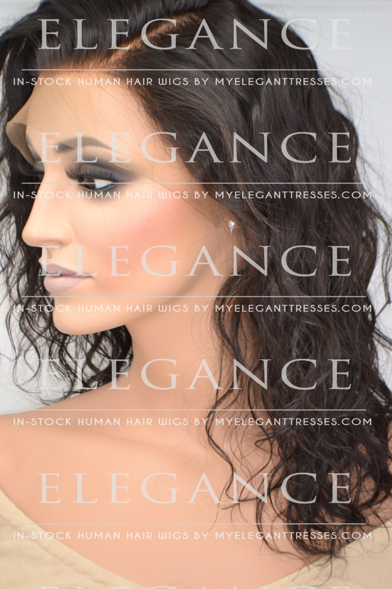 Julianne Lace Front Mid-Length Wig - My Elegant Tresses - Medium Length Black Wigs