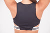 Black and white sports bra