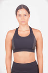 Polka dot sports bra with 3 back straps