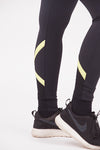 criss cross neon green leggings