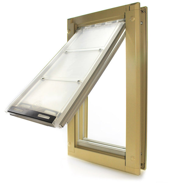 Patio Pacific Endura Door Mount Pet Door Medium Double Flap Tan