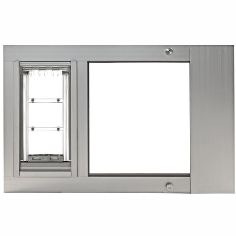 Patio Pacific Endura Thermo Sashe 3e Pet Door Medium Flap Silver