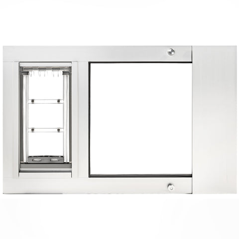 Patio Pacific Endura Thermo Sashe 3e Pet Door Small Flap White