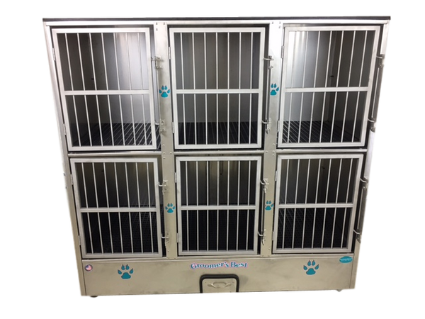 Groomers Best 6 Unit Cage Bank