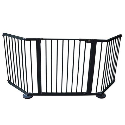 "Cardinal Gates VersaGate Hardware Mounted Pet Gate Black 40"" - 77.25"" x 30.5"""
