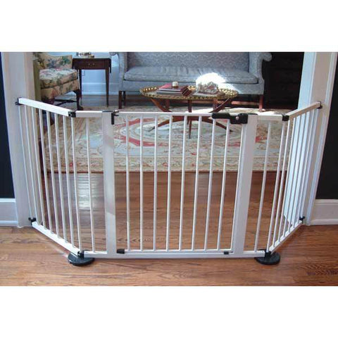 "Cardinal Gates VersaGate Hardware Mounted Pet Gate White 40"" - 77.25"" x 30.5"""