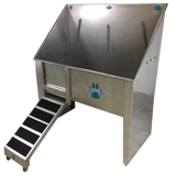 Groomer's Best Walk Through Stainless Steel Tub with Ramp