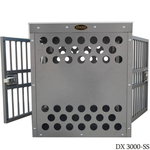 Zinger Deluxe Double Door Side/Side Entry Dog Crate