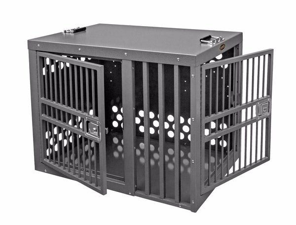 Zinger Deluxe Double Door Front/Side Entry Dog Crate