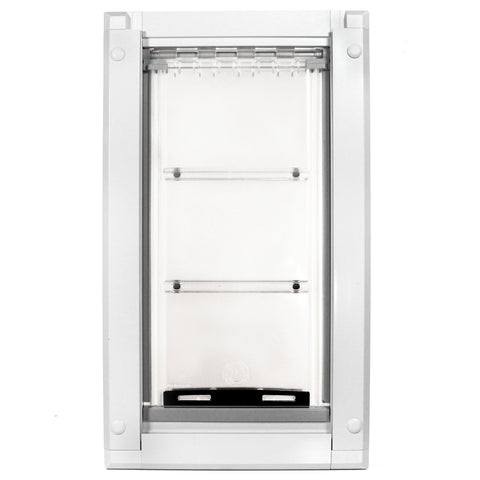 Patio Pacific Endura Wall Mount Pet Door Small Single Flap White