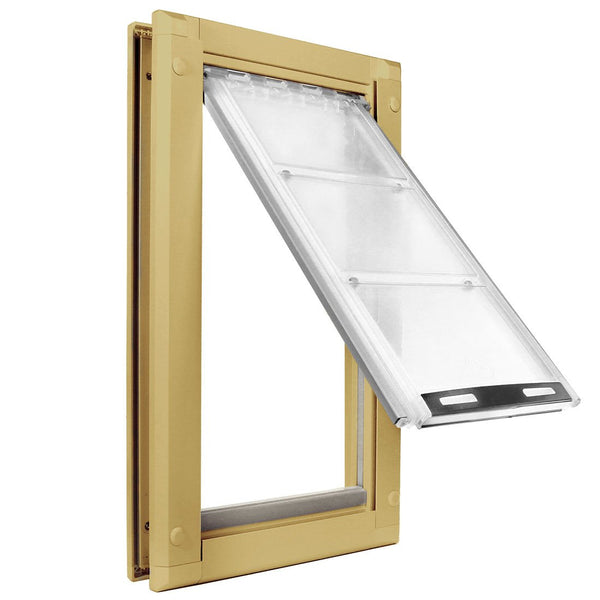 Patio Pacific Endura Door Mount Pet Door Extra Large Single Flap Tan
