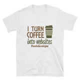 Coffee into Websites T-Shirt