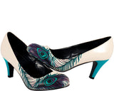 Peacock feather anti-pop heel