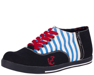 Sailor Stripes Sneakers - Women Shoes - *FINAL SALE/NON-RETURNABLE
