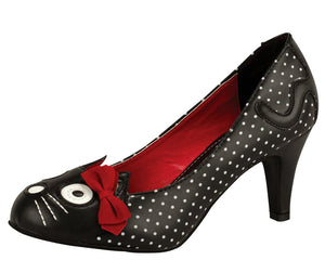 Polka dot kitty heel - T.U.K.