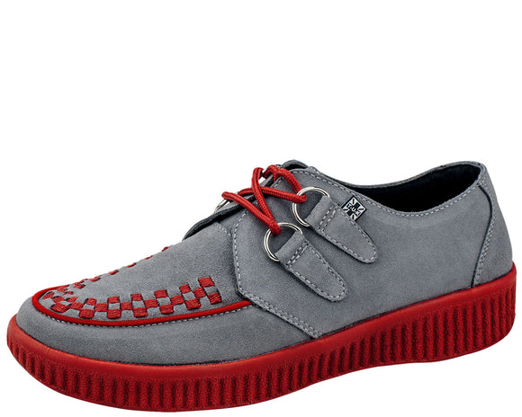 Red / Grey - Suede Creepers