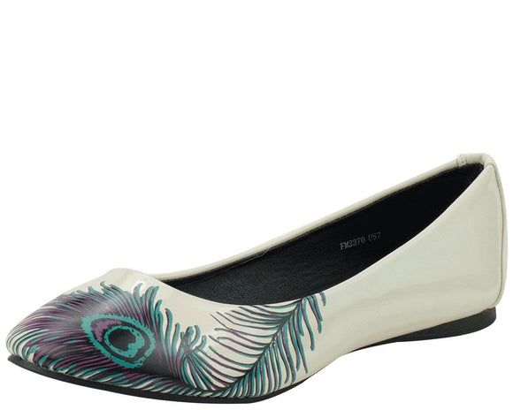 Peacock Feather Flats *ALL ITEMS FINAL SALE/NON-RETURNABLE*