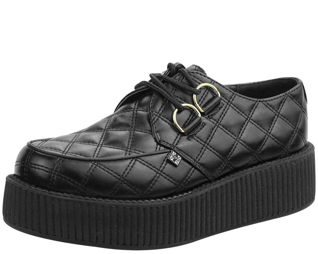 4a2d5cf7818ab5 Black Quilted Creepers – T.U.K. Footwear Outlet