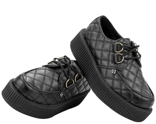 Black Quilted Vegan Viva Mondo Creepers