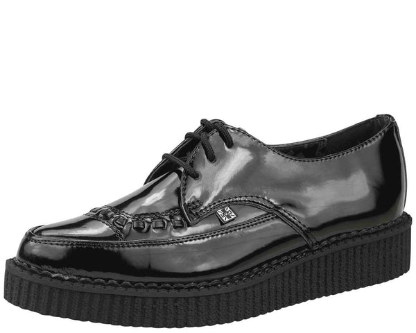 Patent Leather Pointed Toe Low Creeper