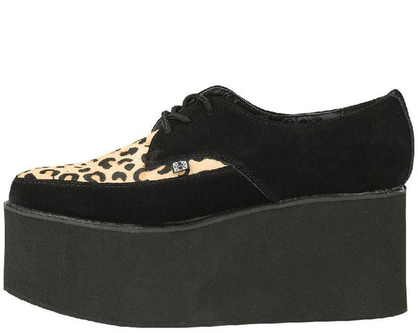 Black Leopard EVA Stacked Pointed Creepers - T.U.K.