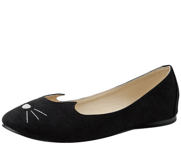 Black Sophistakitty Flats - T.U.K.