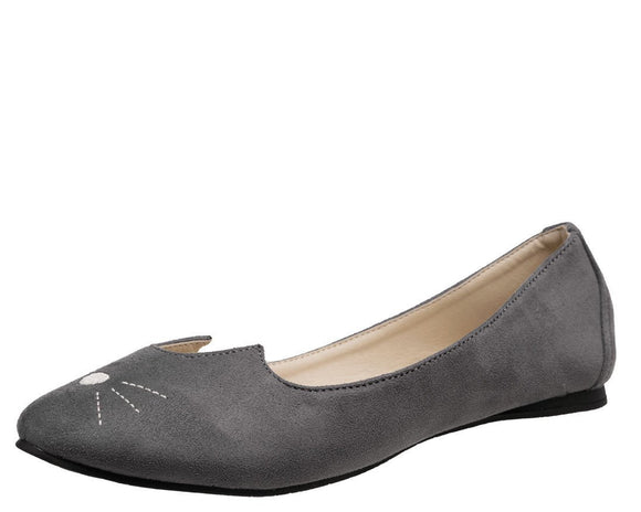 Grey Sophistakitty Flats - T.U.K.