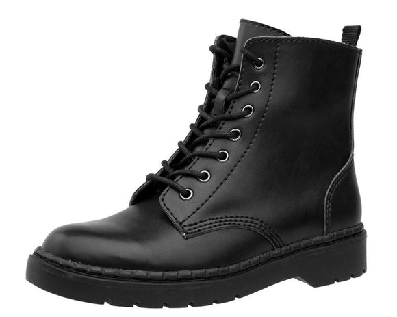 Black Leather Ealing Boot