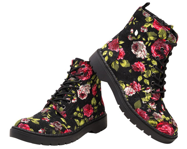 Rose Lace Ealing Boot - T.U.K.