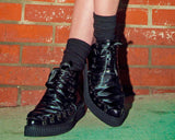 Black Corset Pointed Creeper Boot