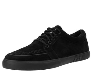 Black Suede No-Ring VLK Sneaker - T.U.K.