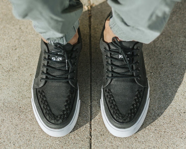 Black Twill No-Ring VLK Sneaker - T.U.K.