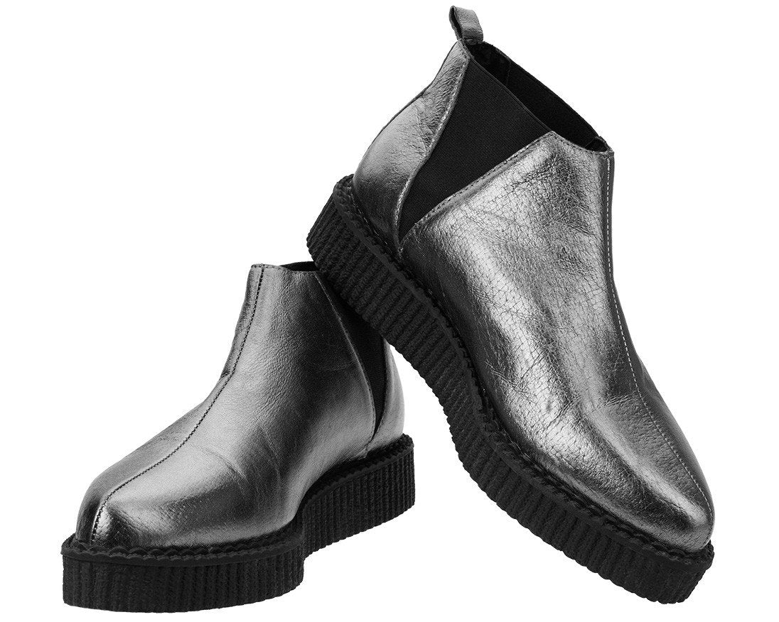 Graphite Chelsea Pointed Creeper Boot T.U.K Shoes A9196 Unisex-Adult Boots