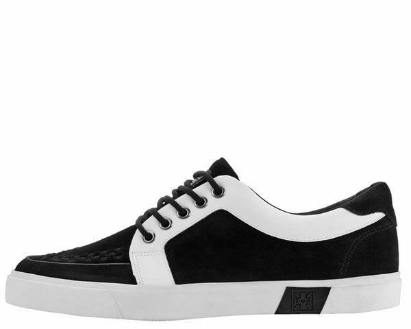 Black & White No-Ring VLK Sneaker - T.U.K.