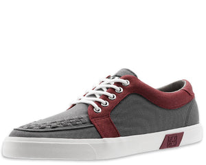 Grey & Burgundy No-Ring VLK Sneaker - *FINAL SALE/NON-RETURNABLE