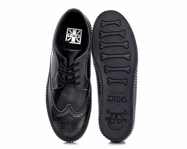 Black Rub Off EZC Brogue Shoes