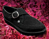 Black Stingray Pointed Buckle Creeper