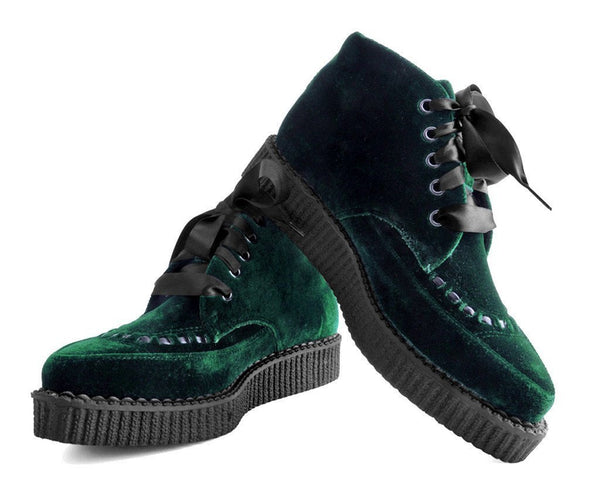 Emerald Velvet Pointed Boot
