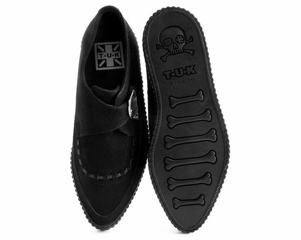 Black Faux Suede Pointed Buckle EZC