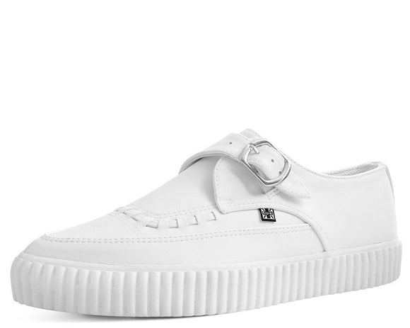 White Faux Leather Pointed Buckle EZC