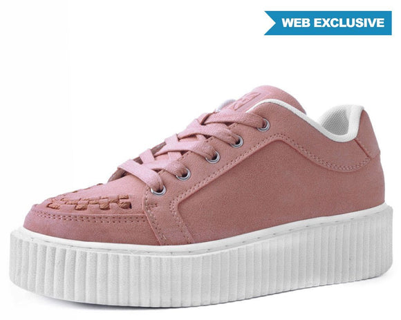 Blush Pink Faux Suede Casbah Creeper