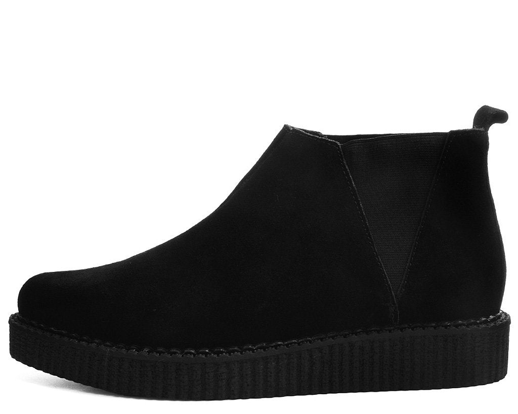 96bffdb6aefba6 Black Suede Chelsea Pointed Creeper Boots – T.U.K. Footwear Outlet