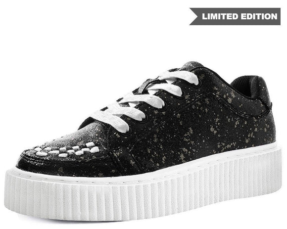 Black & Chrome Paint Splatter Casbah Creeper